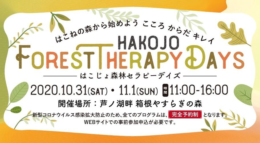 10/31(土)・11/1(日)開催 ~はこじょ森林セラピーデイズ~プログラムのご案内